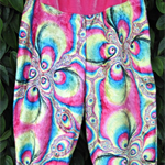 Onesie and Harem pants, 12mo Baby Girl, velvet velour fractal, BoHO Baby